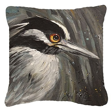 Caroline's Treasures Night Heron Indoor/Outdoor Throw Pillow; 14'' H x 14'' W x 4'' D