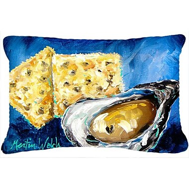 Caroline's Treasures Oysters Two Crackers Indoor/Outdoor Throw Pillow