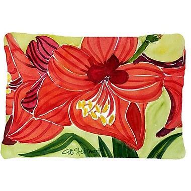 Caroline's Treasures Amaryllis Indoor/Outdoor Throw Pillow