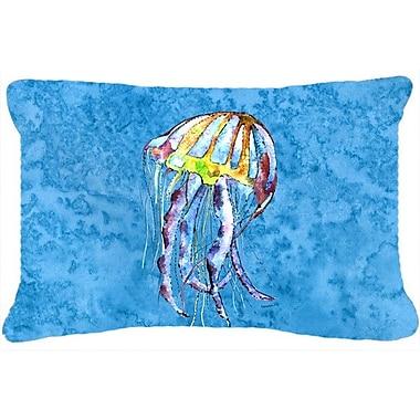 Caroline's Treasures Jellyfish Indoor/Outdoor Throw Pillow
