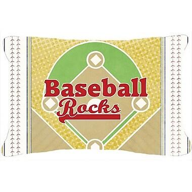 Caroline's Treasures Baseball Rules Indoor/Outdoor Throw Pillow