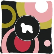Caroline's Treasures Polish Lowland Sheepdog Indoor/Outdoor Throw Pillow