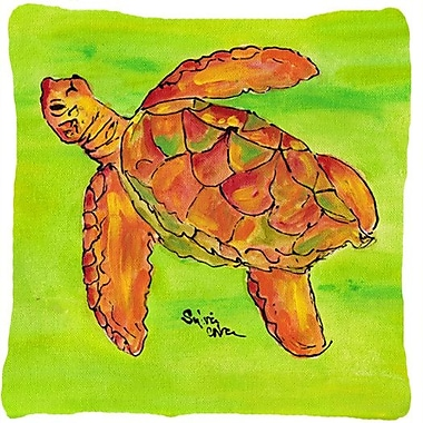 Caroline's Treasures Turtle Indoor/Outdoor Throw Pillow