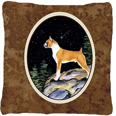 Caroline's Treasures Starry Night Boxer Indoor/Outdoor Throw Pillow