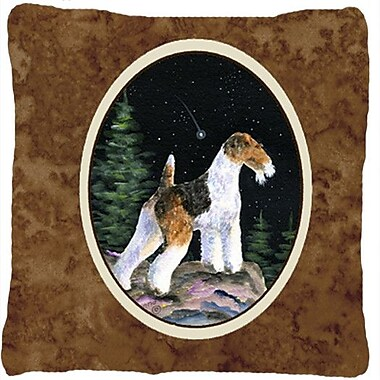 Caroline's Treasures Starry Night Fox Terrier Indoor/Outdoor Throw Pillow