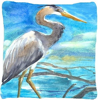 Caroline's Treasures Blue Heron Indoor/Outdoor Throw Pillow