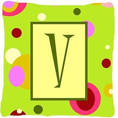 Caroline's Treasures Letter Initial Monogram Indoor/Outdoor Throw Pillow; V