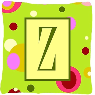 Caroline's Treasures Letter Initial Monogram Indoor/Outdoor Throw Pillow; Z
