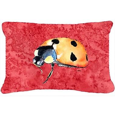 Caroline's Treasures Lady Bug Indoor/Outdoor Throw Pillow