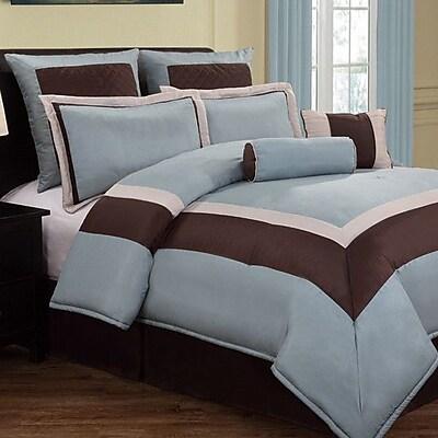 VCNY Hotelier 8 Piece Comforter Set; Queen