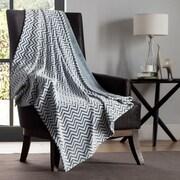 VCNY Chevron Two Tone Polyester Throw Blanket; Green