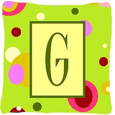 Caroline's Treasures Letter Initial Monogram Indoor/Outdoor Throw Pillow; G