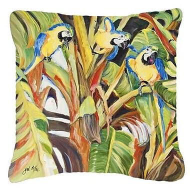 Caroline's Treasures Parrots Indoor/Outdoor Throw Pillow; 18'' H x 18'' W x 5.5'' D