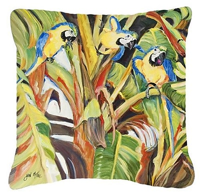 Caroline's Treasures Parrots Indoor/Outdoor Throw Pillow; 14'' H x 14'' W x 4'' D