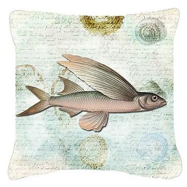 Caroline's Treasures Fish Indoor/Outdoor Throw Pillow; 18'' H x 18'' W x 5.5'' D