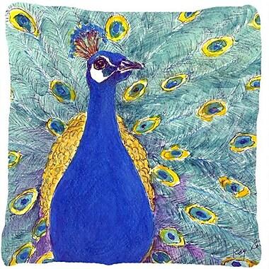 Caroline's Treasures Peacock Indoor/Outdoor Throw Pillow; 18'' H x 18'' W x 5.5'' D