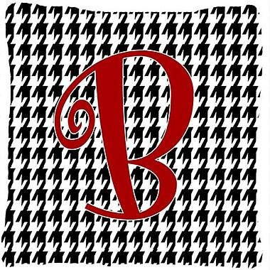 Caroline's Treasures Monogram Initial Houndstooth Black Indoor/Outdoor Throw Pillow; B