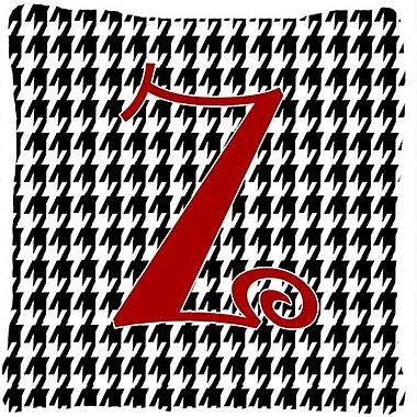 Caroline's Treasures Monogram Initial Houndstooth Black Indoor/Outdoor Throw Pillow; Z