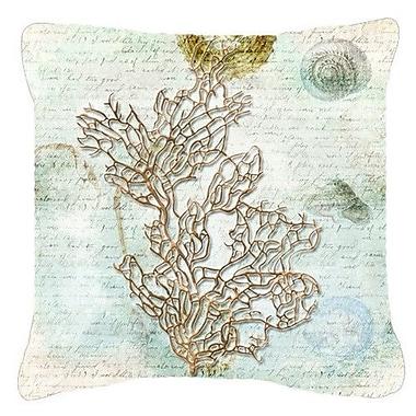 Caroline's Treasures Coral Indoor/Outdoor Throw Pillow; 14'' H x 14'' W x 4'' D