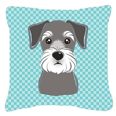 Caroline's Treasures Checkered Schnauzer Indoor/Outdoor Throw Pillow; 14'' H x 14'' W x 4'' D