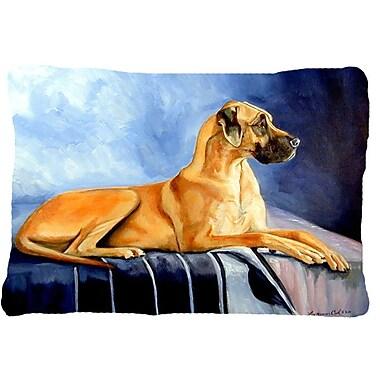 Caroline's Treasures Natural Fawn Great Dane Indoor/Outdoor Throw Pillow