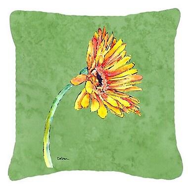 Caroline's Treasures Gerber Daisy Indoor/Outdoor Throw Pillow; 18'' H x 18'' W x 5.5'' D