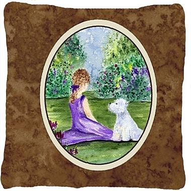 Caroline's Treasures Westie Indoor/Outdoor Throw Pillow