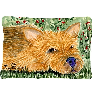 Caroline's Treasures Norwich Terrier Indoor/Outdoor Throw Pillow