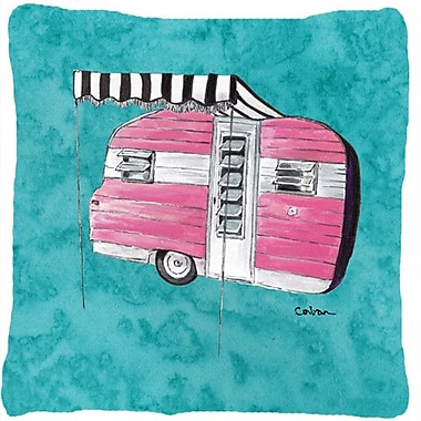 Caroline's Treasures Welcome To The Trailer Indoor/Outdoor Throw Pillow