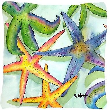 Caroline's Treasures Starfish Indoor/Outdoor Throw Pillow