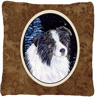 Caroline's Treasures Starry Night Border Collie Indoor/Outdoor Throw Pillow