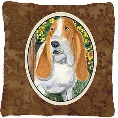 Caroline's Treasures Basset Hound Indoor/Outdoor Throw Pillow