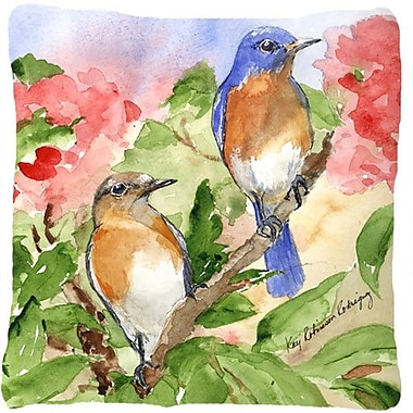 Caroline's Treasures Blue Bird Indoor/Outdoor Throw Pillow