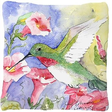 Caroline's Treasures Hummingbird Indoor/Outdoor Throw Pillow