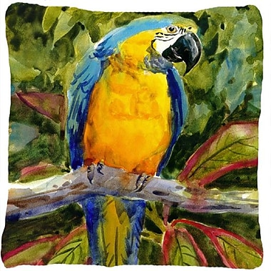 Caroline's Treasures Parrot Indoor/Outdoor Throw Pillow
