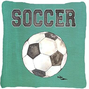 Caroline's Treasures Soccer Indoor/Outdoor Throw Pillow