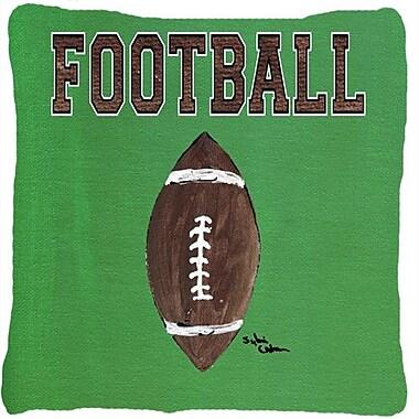 Caroline's Treasures Football Indoor/Outdoor Throw Pillow