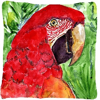 Caroline's Treasures Macaw Indoor/Outdoor Throw Pillow