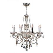 Worldwide Lighting Provence 8-Light Crystal Chandelier; Golden Teak
