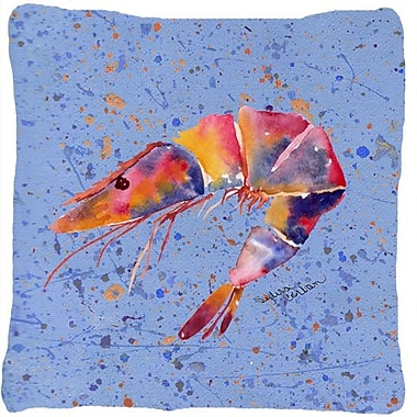 Caroline's Treasures Shrimp Indoor/Outdoor Throw Pillow; Purple
