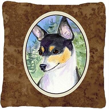 Caroline's Treasures Fox Terrier Indoor/Outdoor Throw Pillow