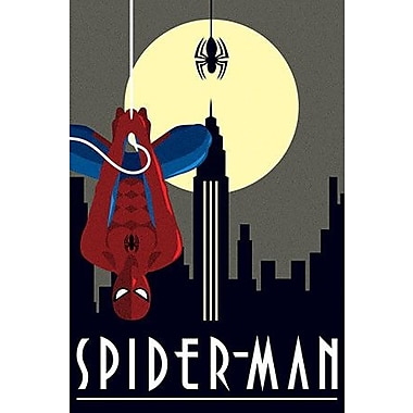iCanvas Marvel Comics Spider-Man Minimalistic Graphic Art on Canvas; 60'' H x 40'' W x 1.5'' D