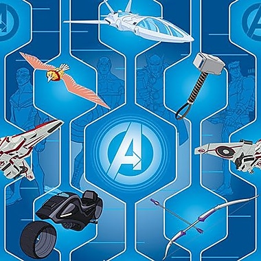 iCanvas Marvel Comics Avengers' Gear Graphic Art on Canvas; 12'' H x 12'' W x 1.5'' D