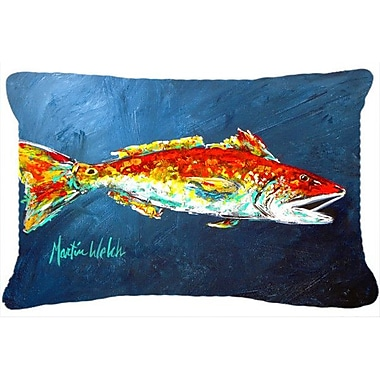 Caroline's Treasures Red Fish Red for Jarett Indoor/Outdoor Throw Pillow