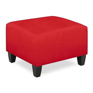 Tory Furniture City Spaces Upholstered Club Ottoman; Scarlet