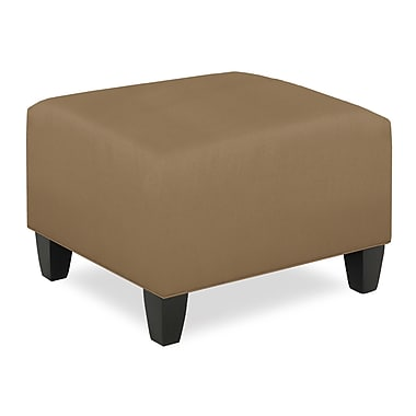 Tory Furniture City Spaces Upholstered Club Ottoman; Stone