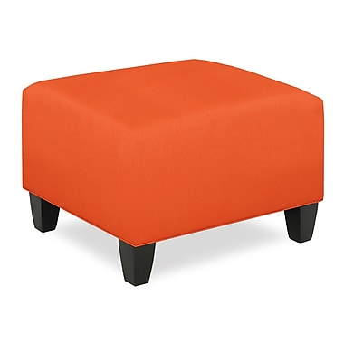 Tory Furniture City Spaces Upholstered Club Ottoman; Tangelo