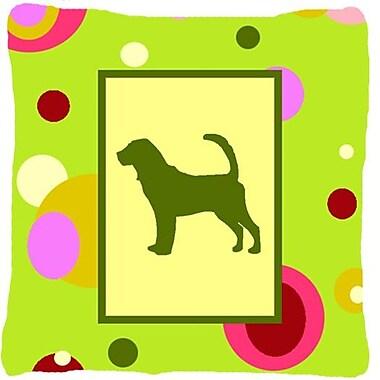 Caroline's Treasures Bloodhound Indoor/Outdoor Throw Pillow