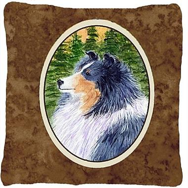 Caroline's Treasures Sheltie Indoor/Outdoor Throw Pillow