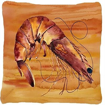 Caroline's Treasures Shrimp Indoor/Outdoor Throw Pillow; Yellow
